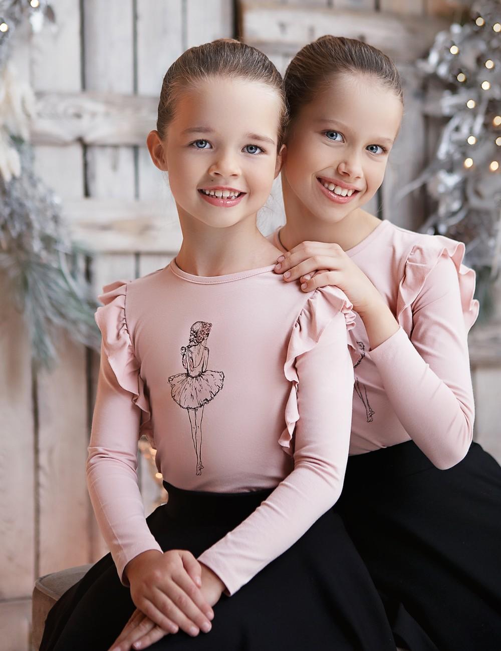 "MINIMI rausvi triko ""Dream ballerina"""