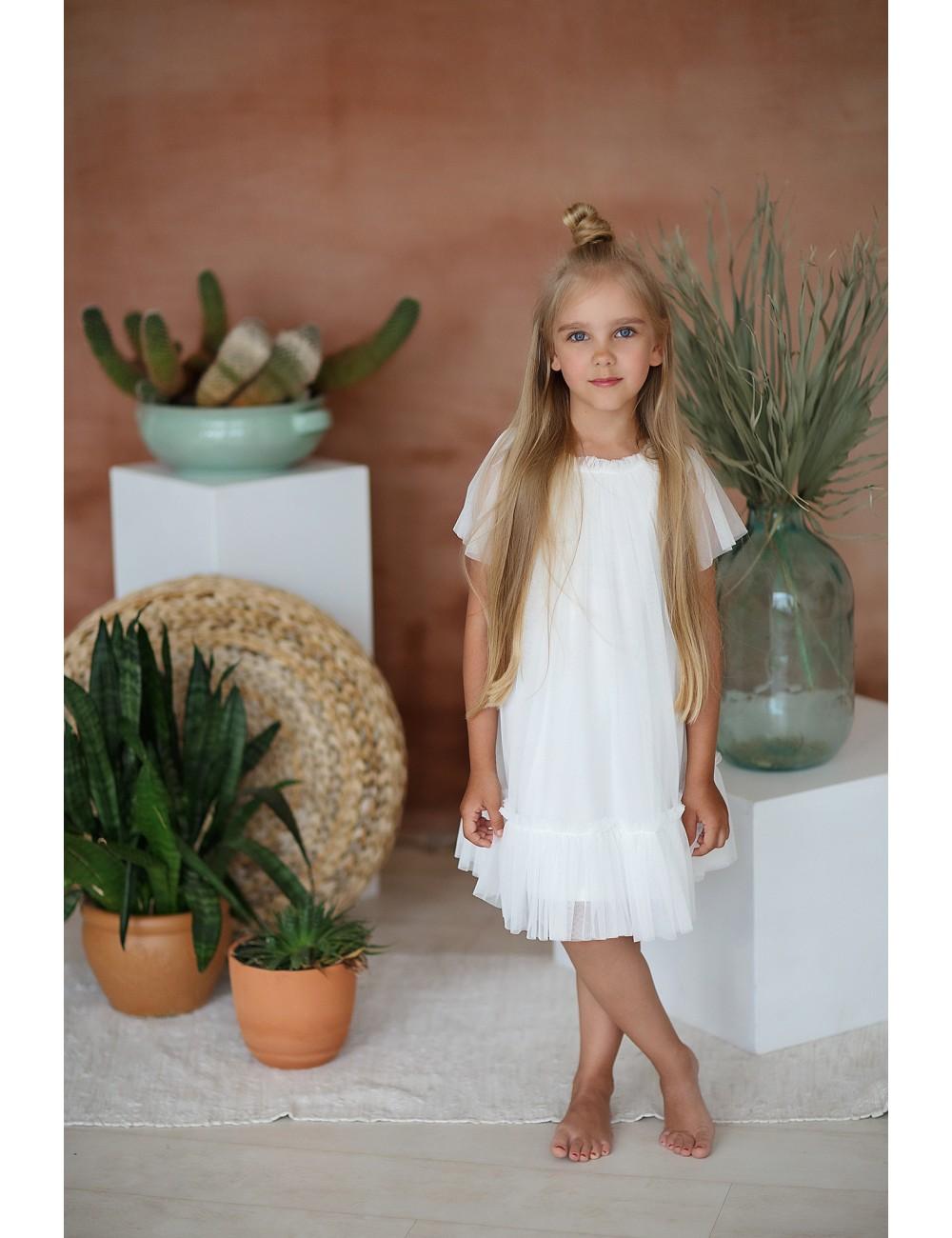 """MINIMI balta tiulinė suknelė """"Softness"""""""