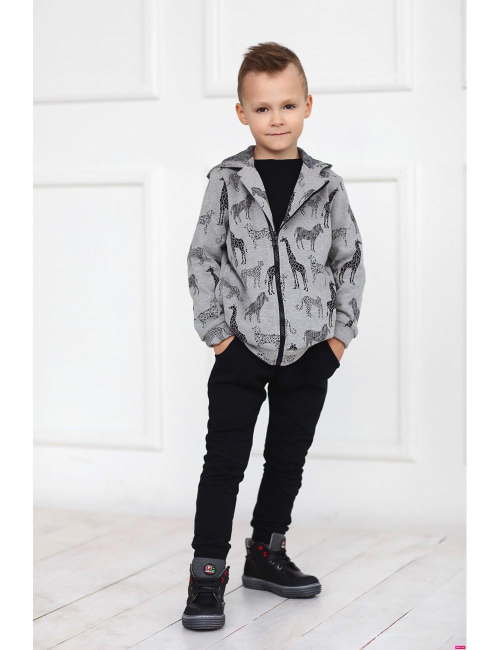 """MINIMI džemperis su kailiuku """"Zoo"""""""