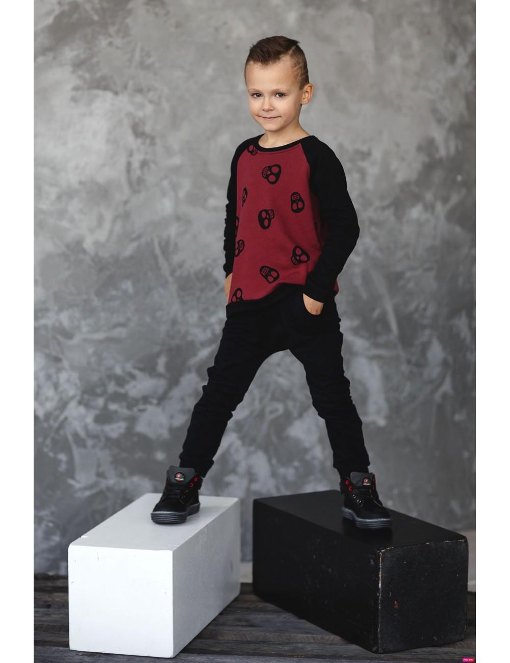 """MINIMI bordo džemperis su kailiuku """"Cool"""""""