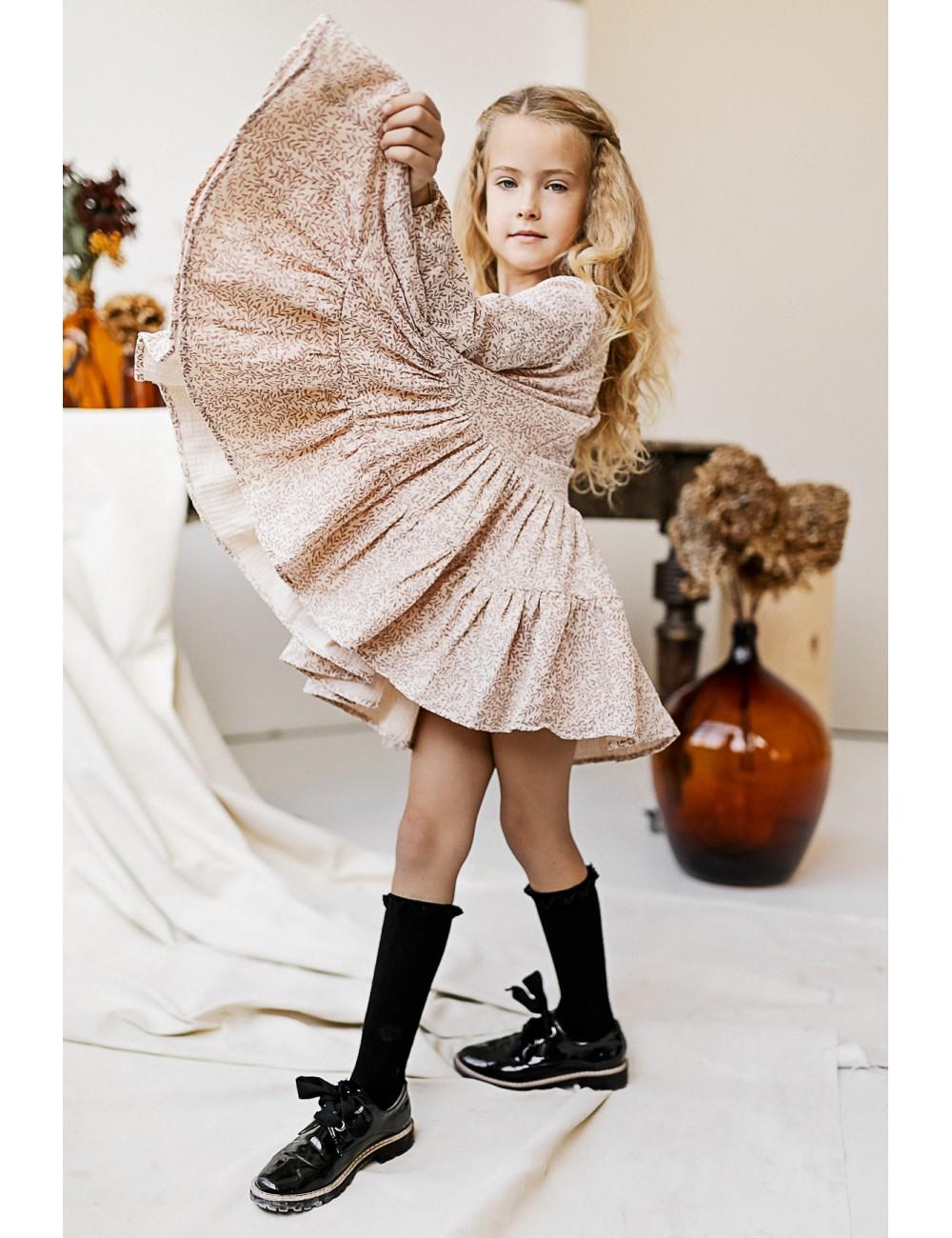 """MINIMI smėlio spalvos suknelė """"Cozy autumn"""""""